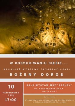 Wernisaż wystawy fotograficznej Bożeny Doros @ Kochanowskiego 5