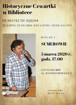 Od Sumeru do Kolumba - Wykład 1: Sumerowie @ Kochanowskiego 5