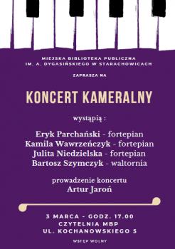 Koncert kameralny - fortepian, waltornia @ Kochanowskiego 5