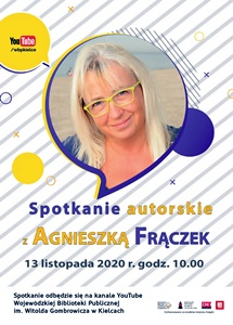 Spotkanie online z Agnieszką Frączek