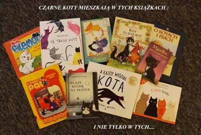 Czarne koty mieszkają w książkach