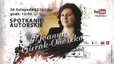 Spotkanie online z Joanną Gierak-Onoszko