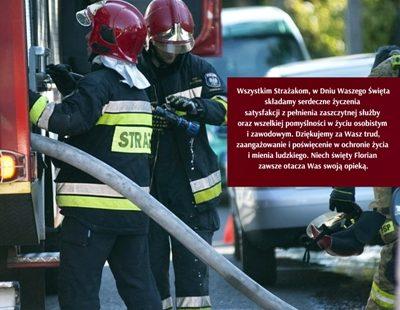 4 maja obchodzony jest Międzynarodowy Dzień Strażaka