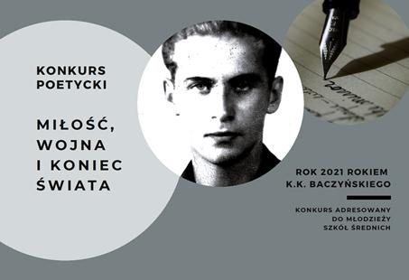 Uwaga! Konkurs poetycki z okazji roku K. K. Baczyńskiego